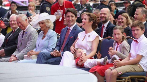 英國王儲查爾斯與加拿大總理杜魯多會面