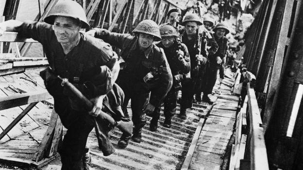 Embarque de tropas britânicas