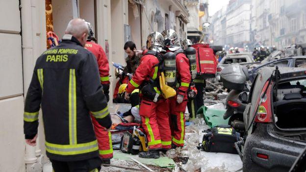 Место взрыва в Париже