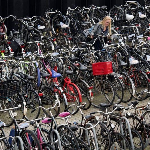 Estacionamiento de bicicletas en Holanda