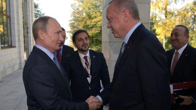 ولادیمیر پوتین و رجب طیب اردوغان روز سهشنبه در شهر سوچی روسیه دیدار کردند