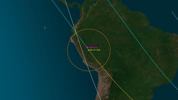 Imagem de satélite registrada pela Aerospace