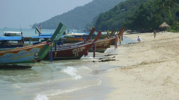 La playa antes del tsunami de 2004