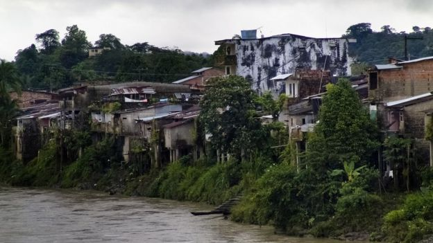 Vista del río San Juan, en Colombia.