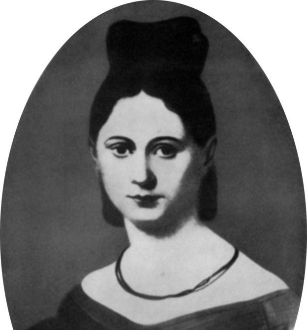 Retrato de Johanna Bertha Julie von Westphalen en la década de 1830