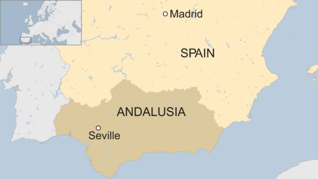 Spain On Map Of World.Spain Far Right Vox Party Gains Foothold In Andalusia Election Bbc