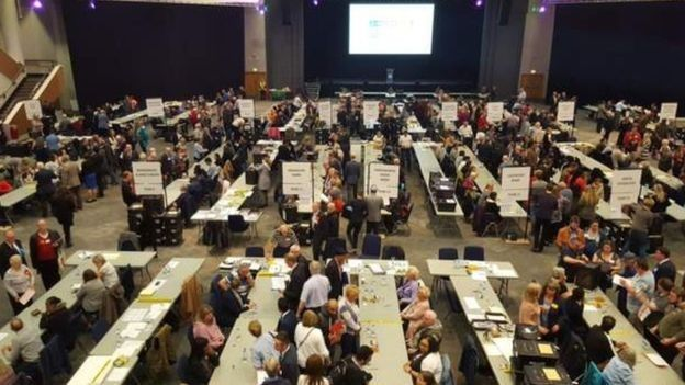 Counting at Birmingham City Council in the 2018 local election