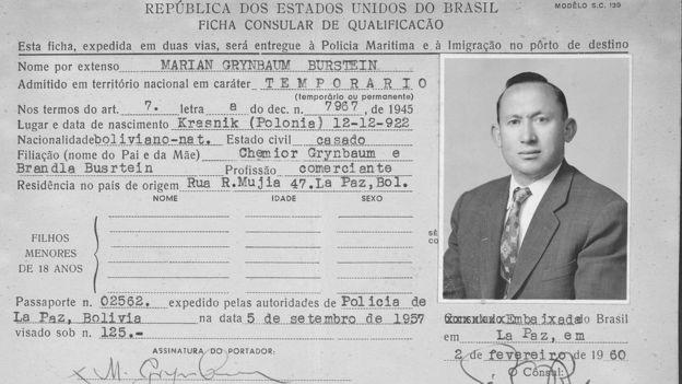 A ficha de imigração do judeu polonês