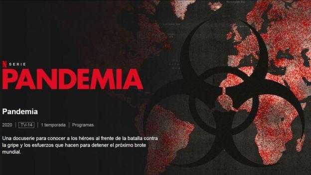 Captura de pantalla de la serie Pandemia de Netflix.