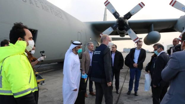 World Health Organization team arrives in Tehran's Mehrabad International Airport (2 March 2020)