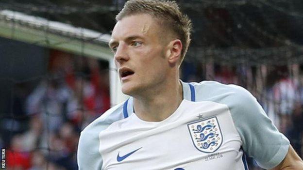 Mshambuliaji klabu ya Uingereza ya Leicester Jamie Vardy