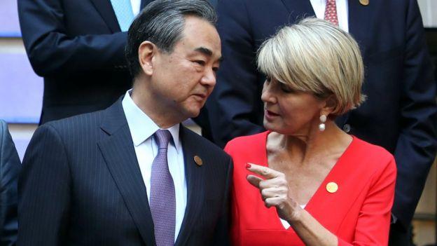 中國外長王毅在五月出席二十國集團會議時與畢曉普碰頭。