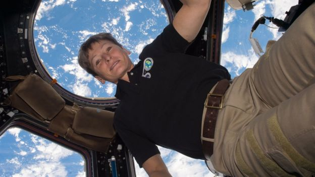Peggy Whitson in the ISS