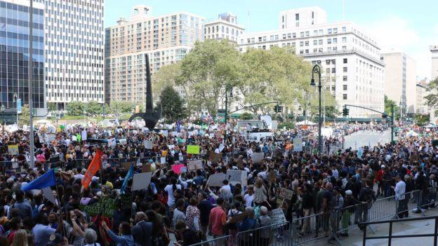 Protesta ambiental en Manhattan.