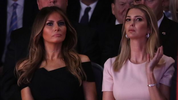 Melania and Ivanka Trump during a election debate in 2016