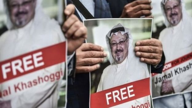 احتجاجات خارج القنصلية السعودية في إسطنبول