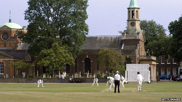 A cricket game