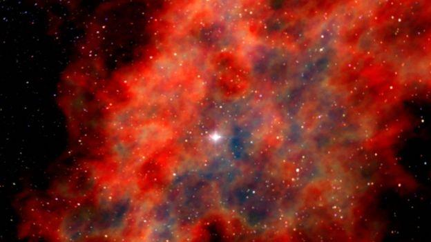 Restos da explosão de uma supernova