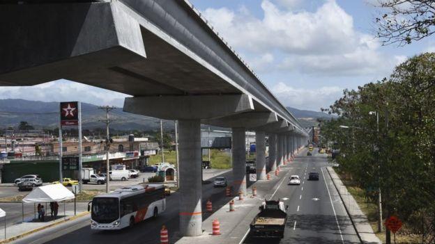 Obra del metro en Panamá.