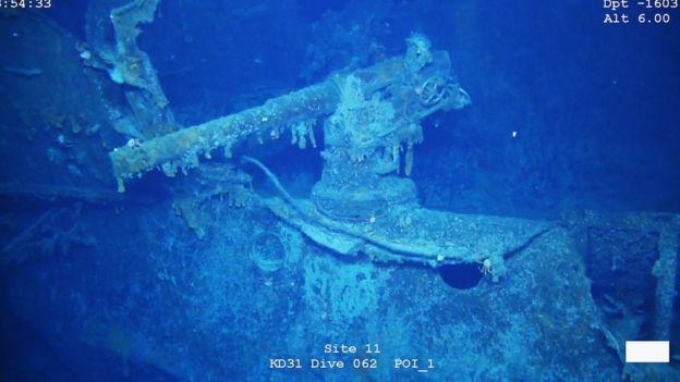 Imagen de un cañón del Scharnhorst.
