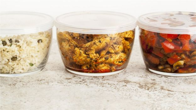 Leftovers in glass containers