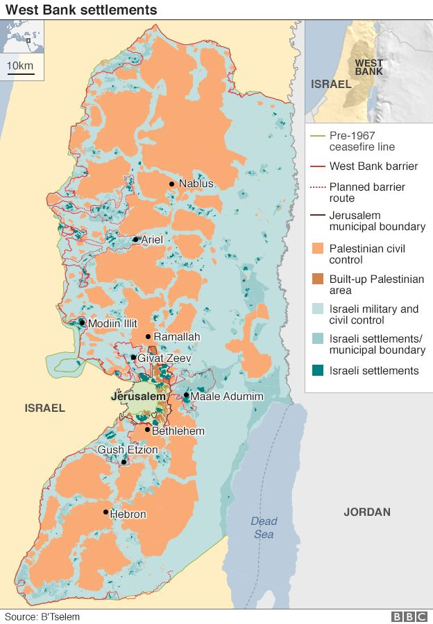 Israel And The Palestinians Can Settlement Issue Be Solved BBC - Israel world map