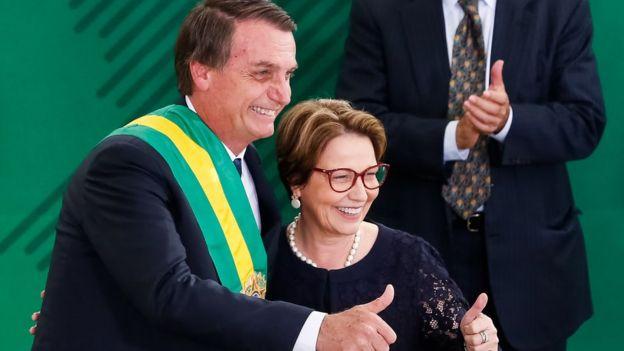 Bolsonaro com Tereza Cristina