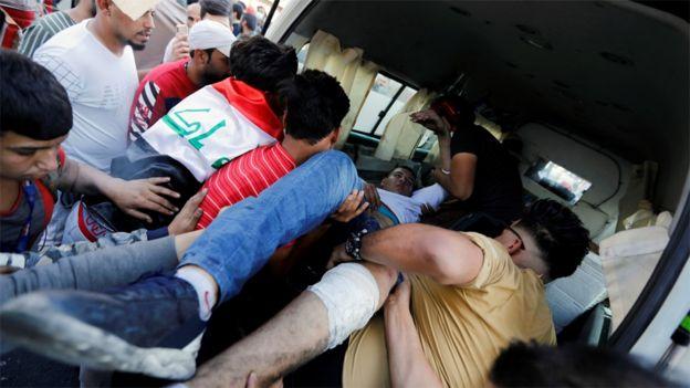 انتقال زخمی در بغداد