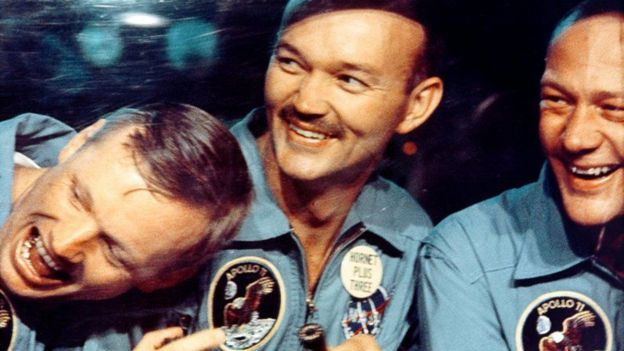 Buzz Aldrin, Neil Armstrong ve Michael Collins.
