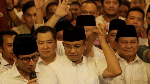 Sandiaga Uno, Hary Tanoesoedibjo, Anies Baswedan, Prabowo Subianto