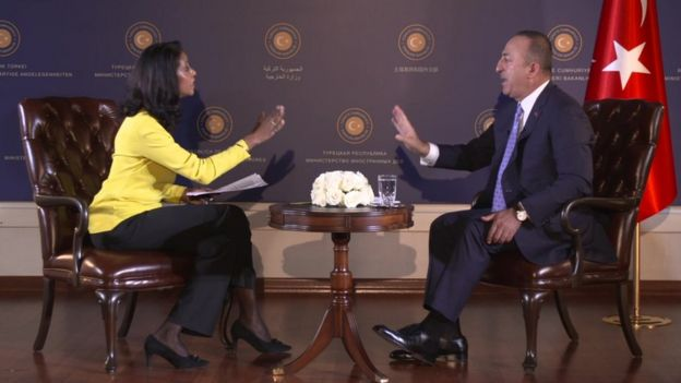 Çavuşoğlu, BBC HardTALK programında Zeinab Badawi'nin sorularını yanıtladı.