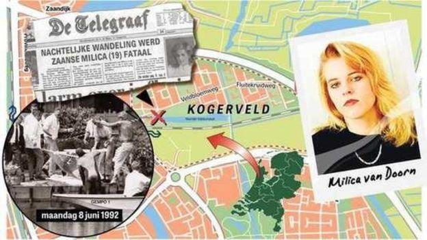 Hollanda'da yayınlanan Telegraaf gazetesi haberi bu harita ile paylaştı