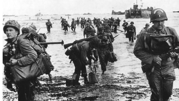US troops during D Day