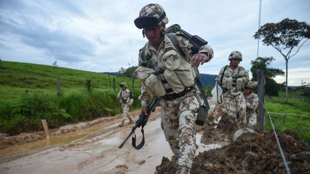Miembros del Ejército de Colombia