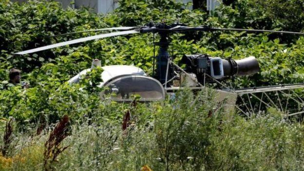 Chiếc trực thăng chở Faid được tìm thấy ở Gonesse, phía Bắc Paris.