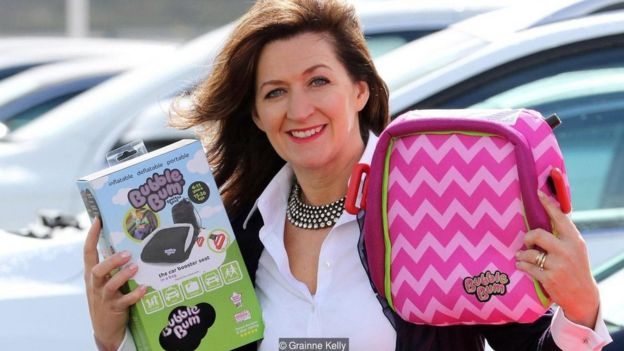 Borne out of her own necessity, Grainne Kelly developed the BubbleBum inflatable booster seat