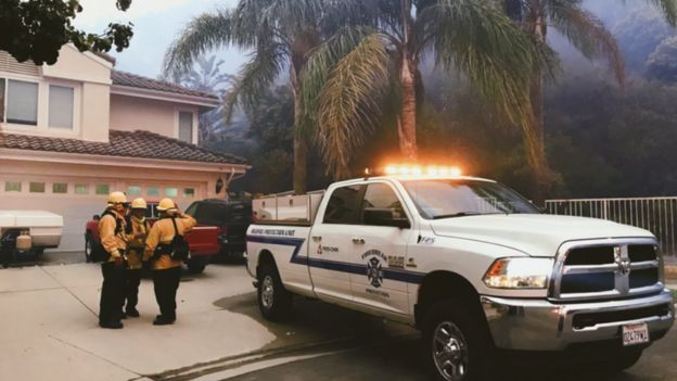 Mansão com bombeiros particulares