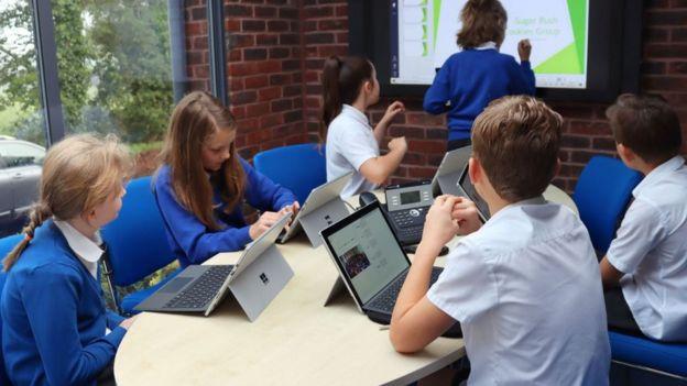 Students on laptop