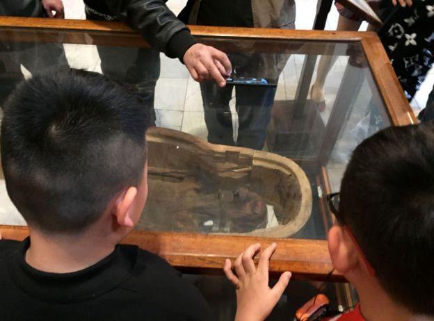 A múmia que grita no museu