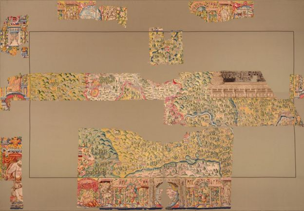 Map Of Uk Oxford.Elizabethan Map Goes On Display At Bodleian Libraries Bbc News
