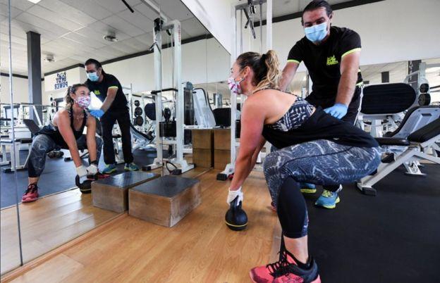 Gym in Castiglione della Pescaia, Italy, 19 May 20
