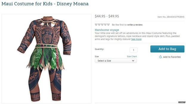Online page for Moana costume  sc 1 st  BBC.com & How did Disney get Moana so right and Maui so wrong? - BBC News