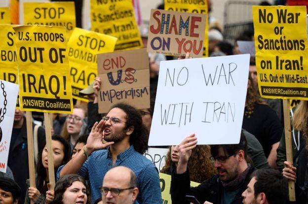 Các cuộc biểu tình ở Washington sau cuộc tấn công bằng drone
