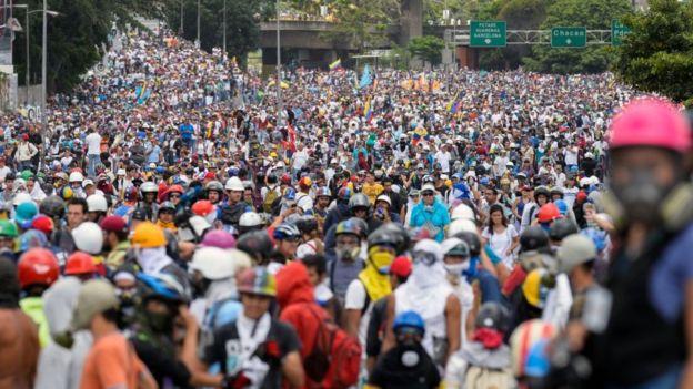 Las protestas en Venezuela ya acumulan dos meses.