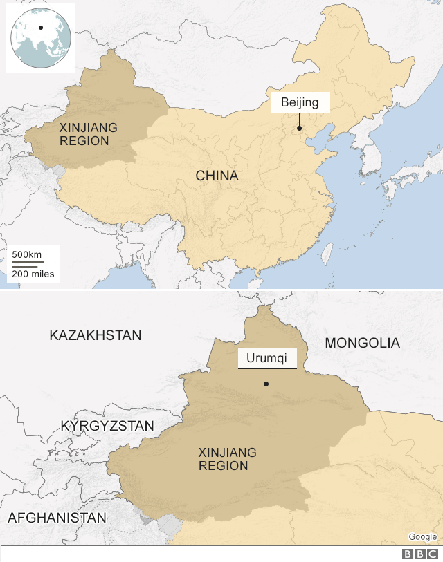 Map Xinjiang.Un Alarmed By Reports Of China S Mass Detention Of Uighurs Bbc News