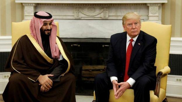 Suudi Arabistan Veliaht Prensi Muhammed bin Selman ve ABD Başkanı Donald Trump