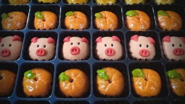 Pig shaped cookies