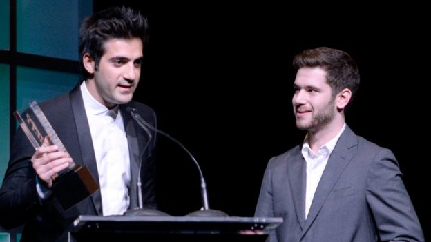 HQ Trivia co-founders Rus Yusupov (left) and Colin Kroll (right)