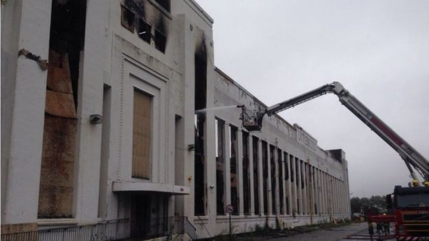 Littlewoods building after fire