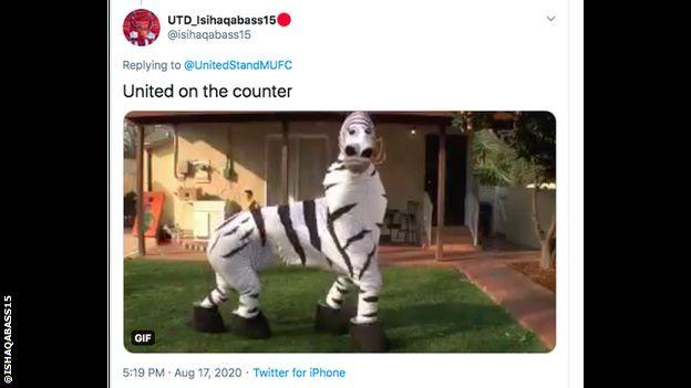 Manchester United To Wear Zebra Print Third Kit Bbc Sport